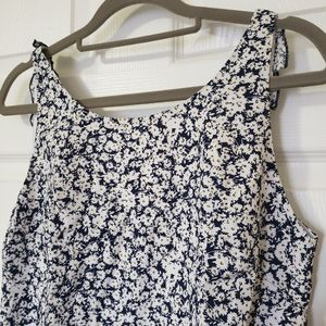 Zara low back floral dress